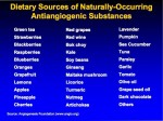 Foods that helpe regulate angiogenesis