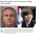 Man arrested for NOT tweeting?